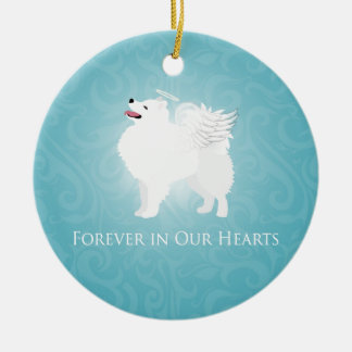 American Eskimo Dog Pet Loss Sympathy Design Christmas Ornament