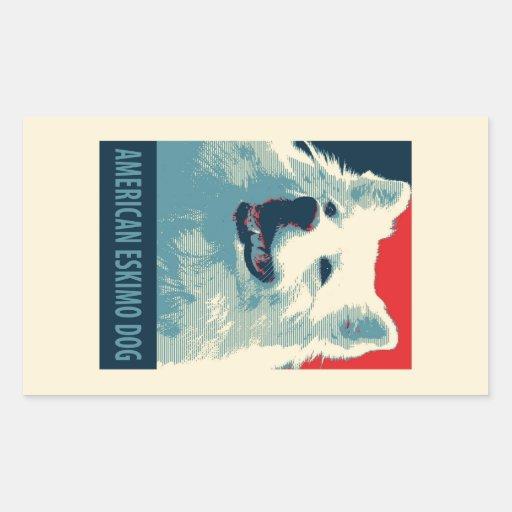 American Eskimo Dog Political Hope Parody Sticker