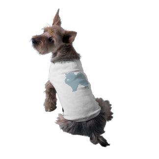 American Eskimo dog pop art silhouette with heart Sleeveless Dog Shirt