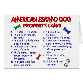AMERICAN ESKIMO DOG Property Laws 2 Card