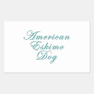 American Eskimo Dog Rectangular Sticker