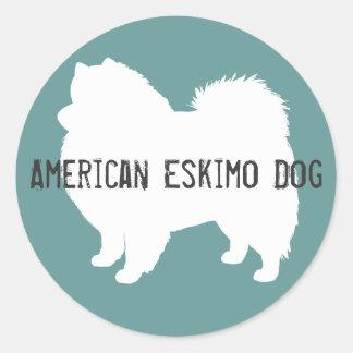 American Eskimo Dog Round Sticker