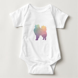 American Eskimo Dog Silhouette Designs Baby Bodysuit