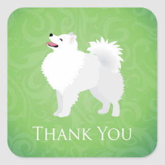 American Eskimo Dog - Thank You Stickers