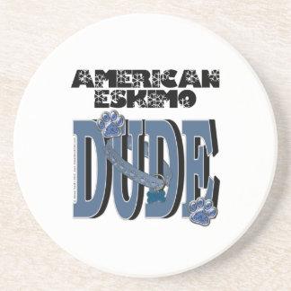 American Eskimo DUDE Beverage Coasters