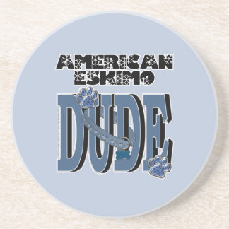 American Eskimo DUDE Drink Coaster