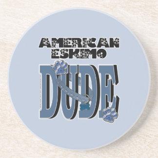 American Eskimo DUDE Drink Coasters