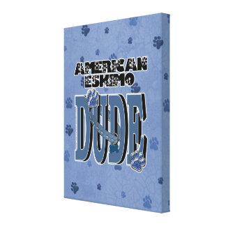 American Eskimo DUDE Gallery Wrap Canvas