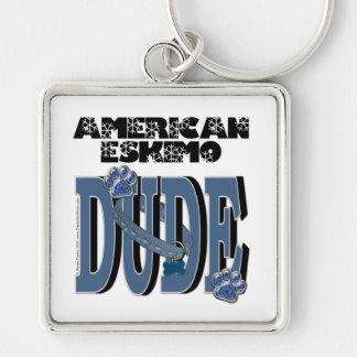 American Eskimo DUDE Key Chain