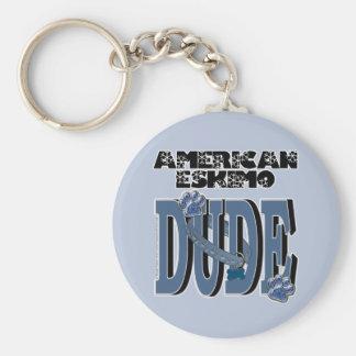 American Eskimo DUDE Keychain