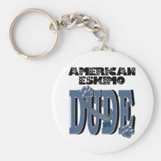 American Eskimo DUDE Keychains