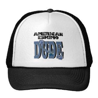 American Eskimo DUDE Mesh Hats