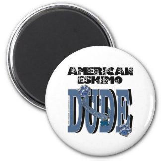 American Eskimo DUDE Refrigerator Magnet