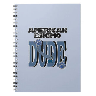 American Eskimo DUDE Spiral Notebook