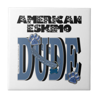 American Eskimo DUDE Tile