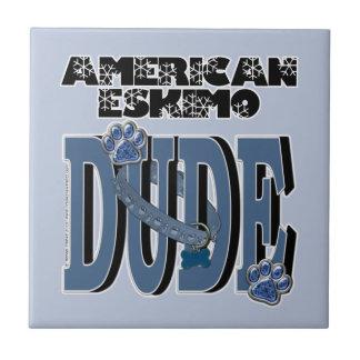 American Eskimo DUDE Tiles