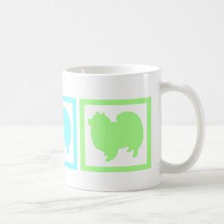 American Eskimo Eskie Squares Coffee Mugs