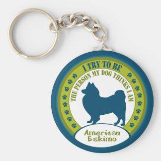 American Eskimo Key Chain