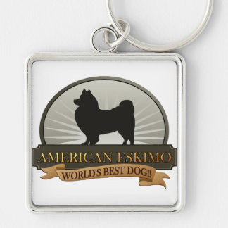 American Eskimo Keychains