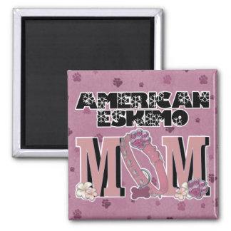 American Eskimo MOM Fridge Magnet
