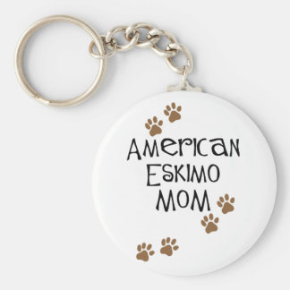 American Eskimo Mom Key Chain