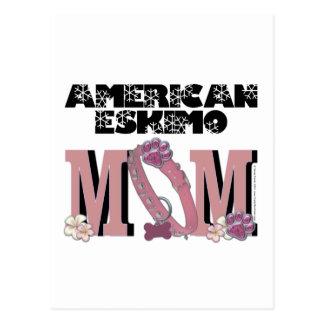 American Eskimo MOM Postcard