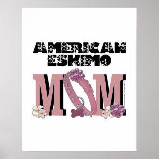 American Eskimo MOM Print