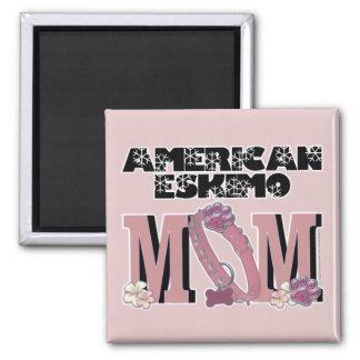 American Eskimo MOM Refrigerator Magnets