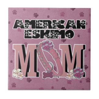 American Eskimo MOM Small Square Tile