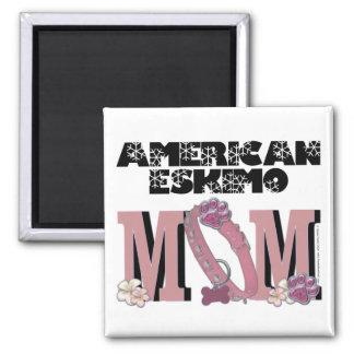 American Eskimo MOM Square Magnet