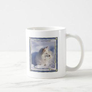American Eskimo Ornament Frame Mug