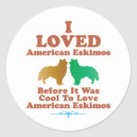 American Eskimo Round Sticker