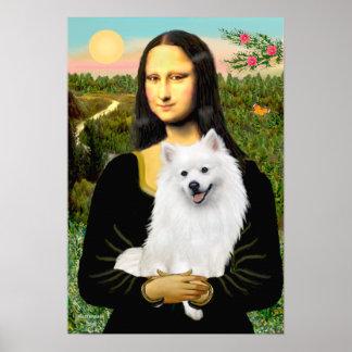 American Eskimo Spitz  - Mona Lisa Poster