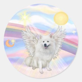 American Eskimo Spitz Round Sticker