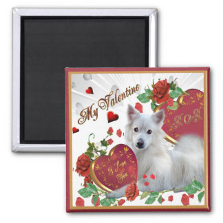 American Eskimo Valentine MOM  gifts Square Magnet
