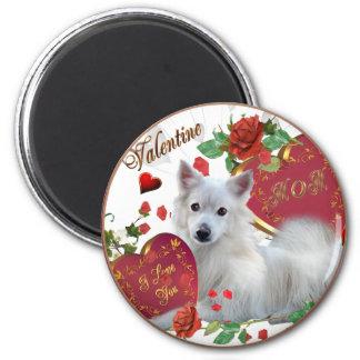 American Eskimo Valentine MOM Magnet