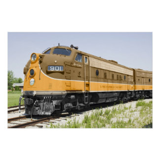 American F-Unit Old Diesel Train Poster