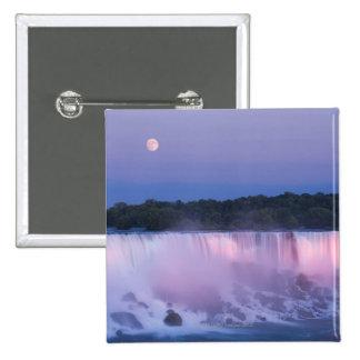 American Falls at Dusk 15 Cm Square Badge
