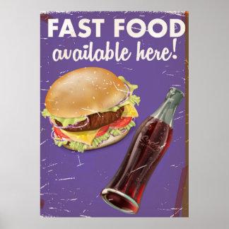 American Far Food Vintage Food Poster.