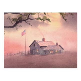 AMERICAN FARM HOUSE by SHARON SHARPE Postcard