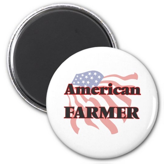 American Farmer 6 Cm Round Magnet