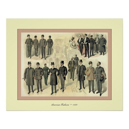 American Fashions ~ 1899 ~ Vintage Advertising Poster