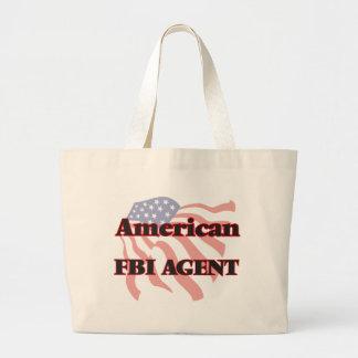 American Fbi Agent Jumbo Tote Bag