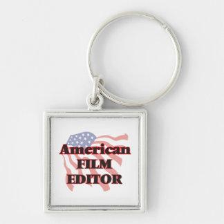 American Film Editor Silver-Colored Square Key Ring