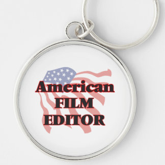 American Film Editor Silver-Colored Round Key Ring