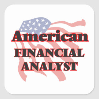 American Financial Analyst Square Sticker