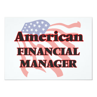 American Financial Manager 13 Cm X 18 Cm Invitation Card