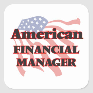 American Financial Manager Square Sticker