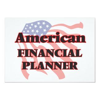 American Financial Planner 13 Cm X 18 Cm Invitation Card