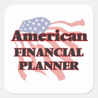 American Financial Planner Square Sticker